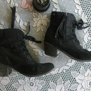 3 for $27! Black booties